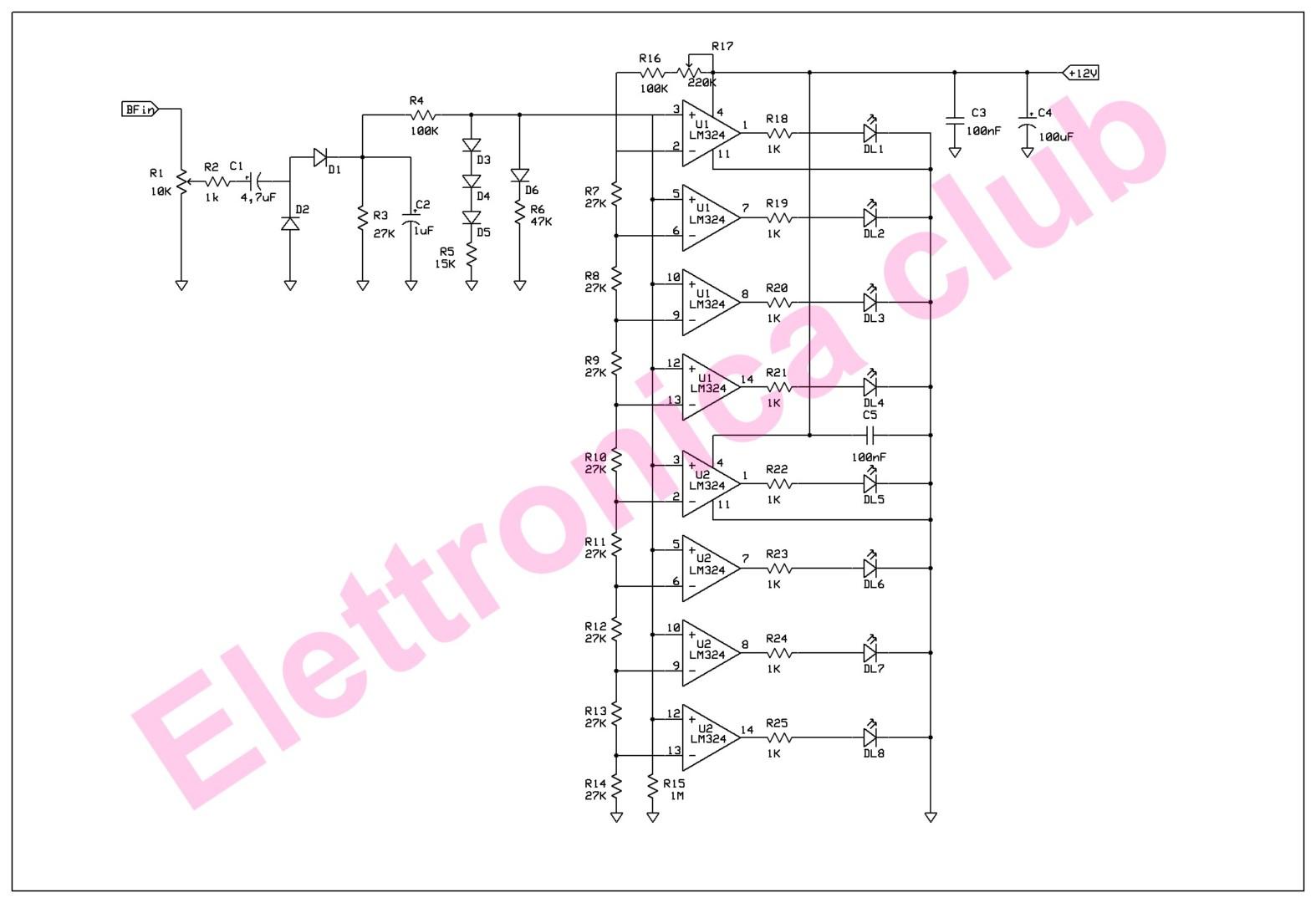 Schema Elettrico Led : Schema collegamento quadro a led e un solo quadro ripetitore